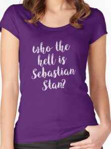 Who the hell is Sebastian Stan? Women's Fitted Scoop T-Shirt