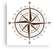 True North Compass Canvas Print