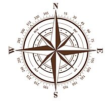 True North Compass Photographic Print