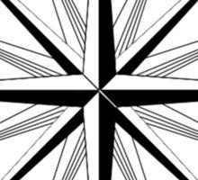 True North Compass Sticker