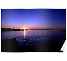 Sunset at Baypoint, New Jersey Poster