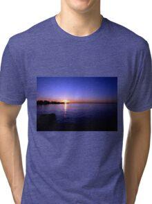 Sunset at Baypoint, New Jersey Tri-blend T-Shirt