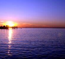 Sunset at Baypoint, New Jersey Sticker