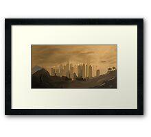 Skyscraper city Framed Print
