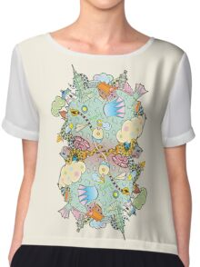 Puffer Puffing On A Water Pipe Chiffon Top