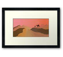 Hot desert Framed Print