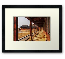 Columns of traditional Korean church Framed Print