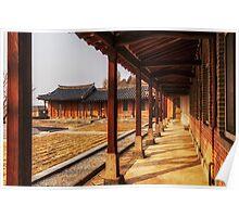 Columns of traditional Korean church Poster