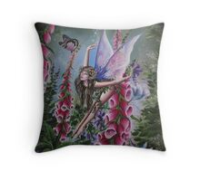 Foxglove fairy tote bag Throw Pillow