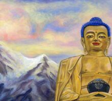 Sitting Still: Golden Buddha, Nepal Sticker