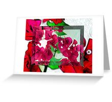 Bougainvillea Art Greeting Card