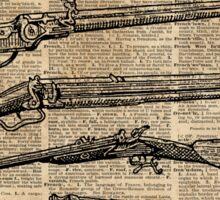 Vintage Weapons Antique Guns Dictionary Art Sticker