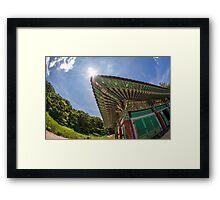 South Korean temple Framed Print