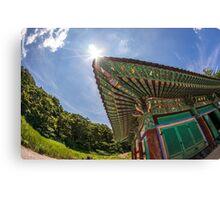 South Korean temple Canvas Print
