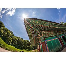 South Korean temple Photographic Print