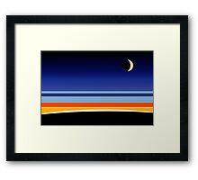 Orbital Sunset Framed Print