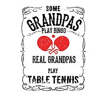 Table Tennis Granpa Photographic Print