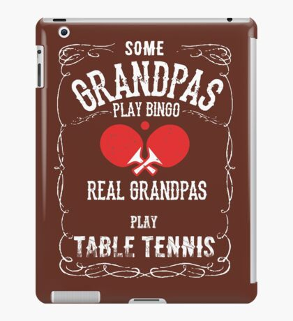 Table Tennis Grandpa iPad Case/Skin