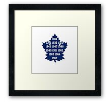 TML Stanley Cup Years V.2 Framed Print