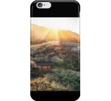 Plum Flower Village at Sunset iPhone Case/Skin
