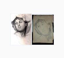 Female Head/Degas Copy -(310516)- Graphite stick/A4 sketchbook Unisex T-Shirt