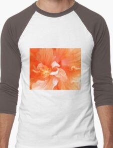 Orange Hibiscus Art Men's Baseball ¾ T-Shirt