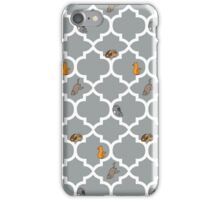 Cats On A Lattice - Grey iPhone Case/Skin