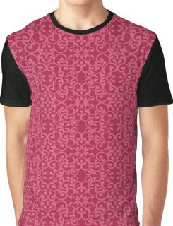 Posh Red Pattern Graphic T-Shirt