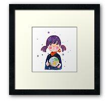Little Earth Framed Print