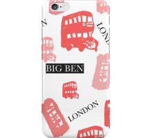 pattern with London symbols. iPhone Case/Skin
