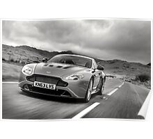 Aston Martin V12 Vantage S in North Wales ... Poster