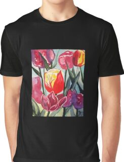 Spring Tulips Graphic T-Shirt