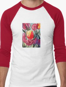 Spring Tulips Men's Baseball ¾ T-Shirt