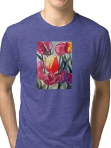 Spring Tulips Tri-blend T-Shirt