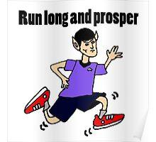 Cool Funny Vulcan Jogging Cartoon Poster