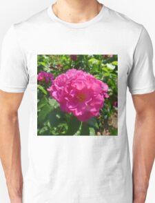 Bright Pink Shrub Rose Unisex T-Shirt