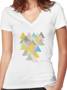 French Alps Women's Fitted V-Neck T-Shirt