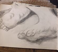 Feet/Copying Murillo -(050616)- Graphite Stick/A4 sketchbook by paulramnora