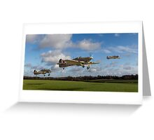 Another day: Hurricanes scramble Greeting Card