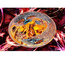 Pagan Gods of Fire Stampeding the Flames but being held back by life on earth Photographic Print