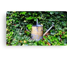 Watering Can & Ivy Canvas Print