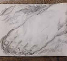 Foot/Old Master Copy -(050616)- Graphite Stick/A4 sketchbook by paulramnora
