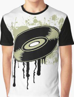 Vinyl Splatter Graphic T-Shirt