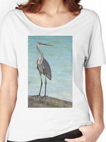 Heron at Stump Pass (Florida, USA) Women's Relaxed Fit T-Shirt