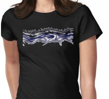smokey wave Womens Fitted T-Shirt