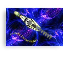 A Combination Galactic Cruiser/Fighter  Canvas Print