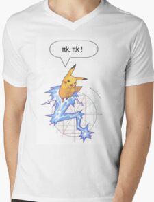 Math Pikachu Mens V-Neck T-Shirt