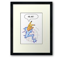Math Pikachu Framed Print