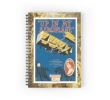 Up In My Areoplane Airplane Vintage Piano Sheet Music Spiral Notebook