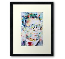 SARTRE - watercolor portrait Framed Print